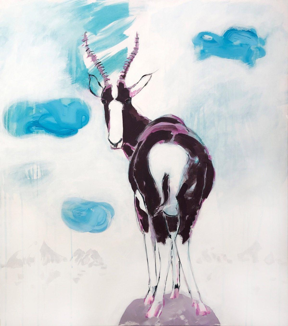 SUPERWILDVISION Namibia, ein Kunstprojekt von Irene Mueller, Gemaelde Tier Buntbock